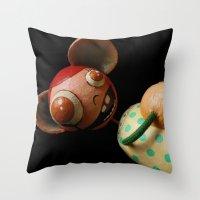 Mimi Favolas Throw Pillow