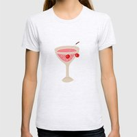 Alcohol_03 Womens Fitted Tee Ash Grey SMALL