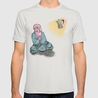 GOD GIMME THE STRENGTH Mens Fitted Tee Silver SMALL
