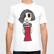 Audrey SMALL Mens Fitted Tee White