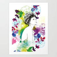 Bella Fashion Watercolor… Art Print
