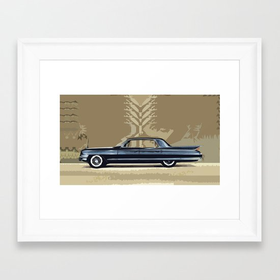 1961 Cadillac Fleetwood Sixty-Special ~ An Artist's Impression  Framed Art Print