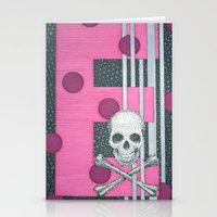 Skull E Stationery Cards