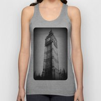 Ben looms in black and white, too. Unisex Tank Top