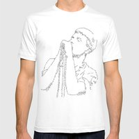 Ian Curtis WordsPortrait Mens Fitted Tee White SMALL