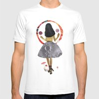 dancing on the moon Mens Fitted Tee White SMALL