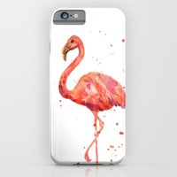 iPhone & iPod Case featuring Flamingo, Pink Flamingo, Tropical, bird art, Florida by eastwitching