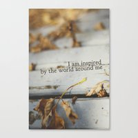inspired by the world Canvas Print