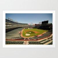 Texas Rangers Ballpark in Arlington Art Print