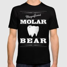 Molar Bear (Gentlemen's Edition) Mens Fitted Tee Black 2X-LARGE