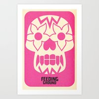 FEEDING GROUND Sugar Skull Art Print