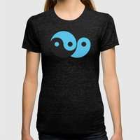 Reflections Of Yin And Y… Womens Fitted Tee Tri-Black SMALL