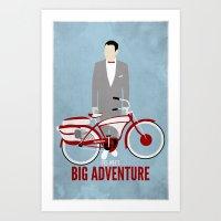 Pee Wee's Big Adventure  Art Print