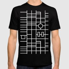 Map With Roundabout Black Mens Fitted Tee SMALL