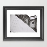 diagonal fence Framed Art Print