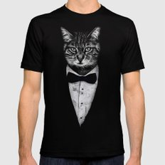 Mr Cat SMALL Mens Fitted Tee Black