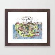 New York City Love Framed Art Print