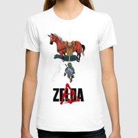 zelda T-shirts featuring Zelda/Akira by Henrique Jardim