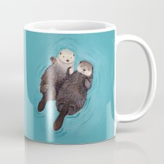 Otterly Romantic - Otters Holding Hands Mug