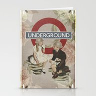 Stationery Cards featuring The Underground by Heather Landis