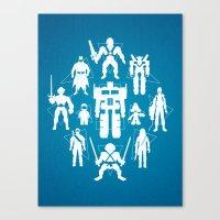 Plastic Heroes Canvas Print