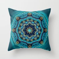 Happy Mandala - Blessing… Throw Pillow