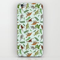 Dinosaurs & Leaves iPhone & iPod Skin