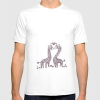 Love Spots Mens Fitted Tee White SMALL