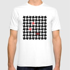 El Batha Pattern Mens Fitted Tee SMALL White