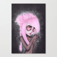 eyes and heart all empty Canvas Print
