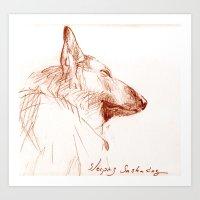 Shepherd Dreams Art Print