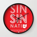 Locals Only — Sinsinnati, OH Wall Clock
