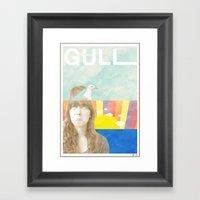 My Mind's A Gull Framed Art Print