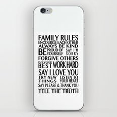 Family Rules 2 iPhone & iPod Skin