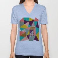 Geometric Love II Unisex V-Neck