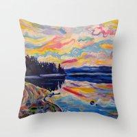 The Denman Sunrise Throw Pillow