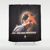 Black Mirror | Dale Cooper Collage Shower Curtain