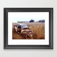 Rusty, Broken And Forgot… Framed Art Print