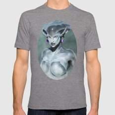 Princess Ruto Mens Fitted Tee Tri-Grey SMALL
