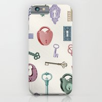 iPhone Cases featuring There's A Key For Every Lock by Paula Belle Flores