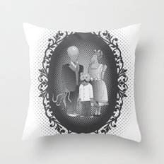 Framed family portrait Throw Pillow