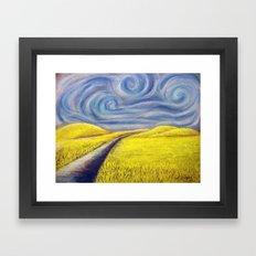 Le Wheat Field Framed Art Print