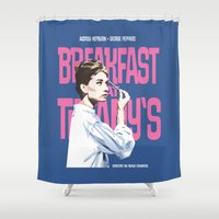 Breakfast at Tiffany's Movie Poster Shower Curtain