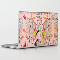 alice in wonderland Laptop & iPad Skins featuring Alice In Wonderland  by Vasare Nar