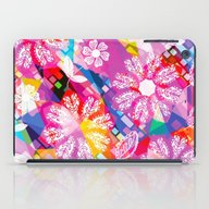 iPad Case featuring Flowers And Geometry by Luizavictorya72