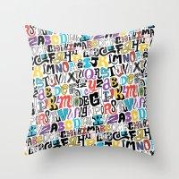 Alpha Pattern Throw Pillow