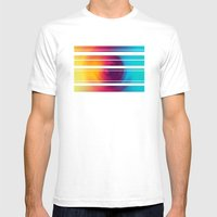 Colorful MIX Mens Fitted Tee White SMALL