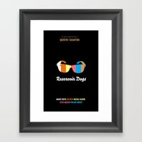 Minimal Reservoir Dogs P… Framed Art Print
