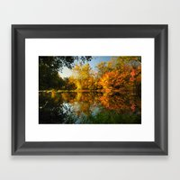 Fall On The Olentangy Ri… Framed Art Print