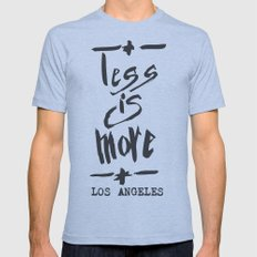 Less is More - Los Angeles -  Mens Fitted Tee Athletic Blue SMALL